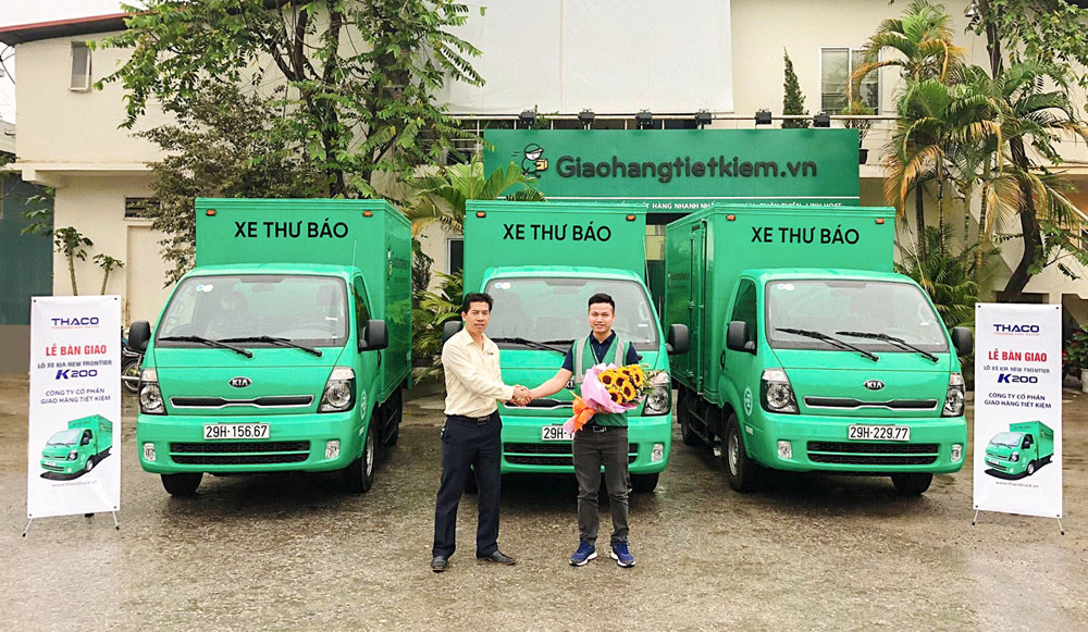 THACO BÀN GIAO LÔ 19 XE KIA NEW FRONTIER K200 CHO CÔNG TY CP GIAO HÀNG TIẾT KIỆM.